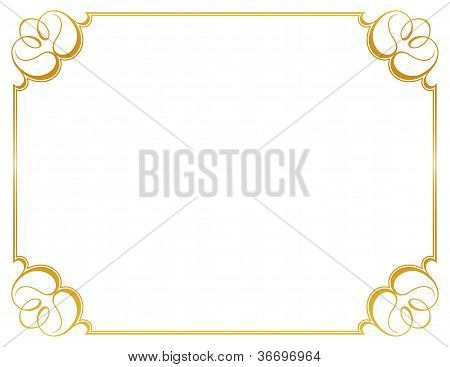 White little background and frame
