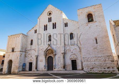 Basilica Cathedral Church Of St. Nicola. Bari. Puglia. Italy.