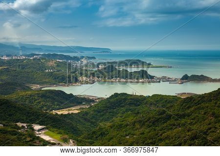 Magnificent View Of The Pacific Coast Seen From The Jiufen Old Town On November 7, 2018, In Jiufen,