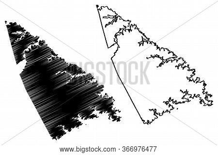 Lincoln County, Georgia (u.s. County, United States Of America,usa, U.s., Us) Map Vector Illustratio