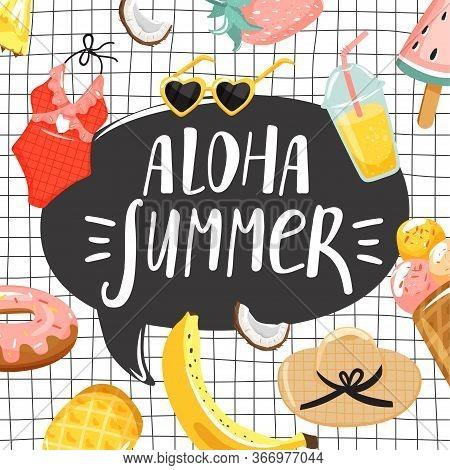 Summer Greeting Card. Stylish Typography Slogan Design