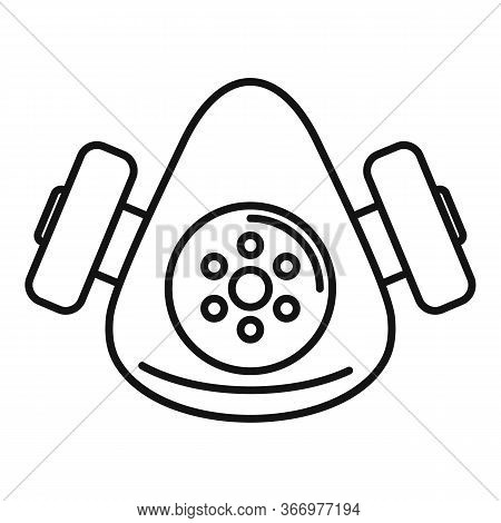 Chemical Gas Mask Icon. Outline Chemical Gas Mask Vector Icon For Web Design Isolated On White Backg
