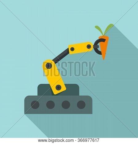 Farm Robotic Arm Icon. Flat Illustration Of Farm Robotic Arm Vector Icon For Web Design