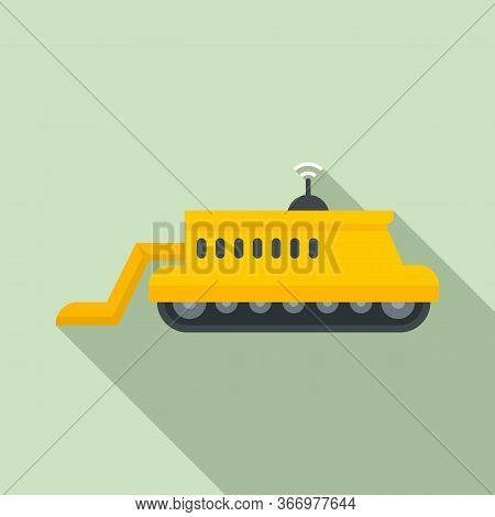 Smart Farm Machinery Icon. Flat Illustration Of Smart Farm Machinery Vector Icon For Web Design
