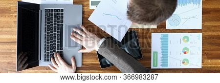 Men Coordinate Work On Documents Electronically. To Identify Conformity Existing Personnel Company T
