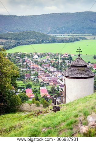 Village Of Krasnohorske Podhradie Near The Castle Of Krasna Horka