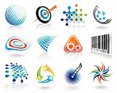 Set of abstract vector graphic symbol design. poster