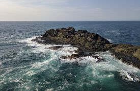 Aerial View From Kiama Blow Hole Point On The South Coast Of New South Wales, Australia. In Aborigin