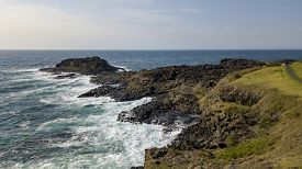 View From Kiama Blow Hole Point On The South Coast Of New South Wales, Australia. In Aboriginal The