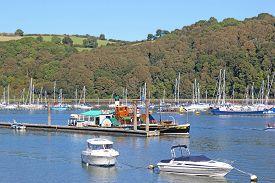Boats On The River Dart At Dartmouth, Devon