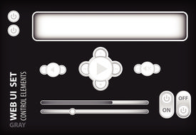 Web UI Elements Gray