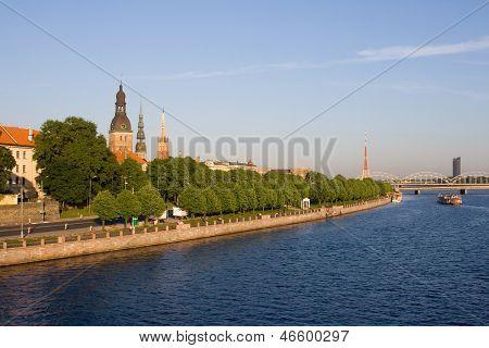 Old Riga In Summertime, Latvia