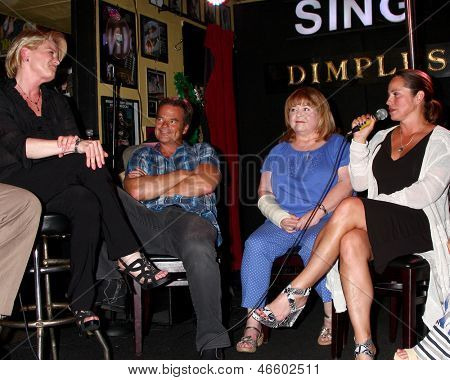 LOS ANGELES - JUN 1:  Judi Evans, Wally Kurth, Patrika Darbo, Crystal Chappell at the Judi Evans Celebrates 30 years in Show Business event at the Dimples on June 1, 2013 in Burbank, CA
