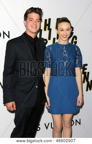 LOS ANGELES - JUN 4:  Israel Broussard, Taissa Farmiga arrivesa at the
