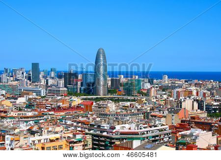 Panorama Of Barcelona, Spain