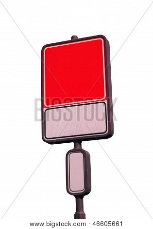 Blank Road Sign With A Place For A Picture Or Text