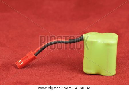 Green Battery with plug for radio controlled toys poster