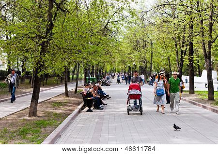 Clear Ponds Boulevard (chistoprudniy) In Moscow