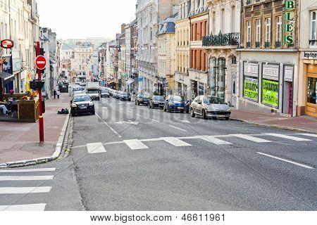 Grande Rue Street In Boulogne-sur-mer, France