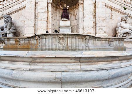 Fontana Della Dea Roma On Capitoline Hill, Rome