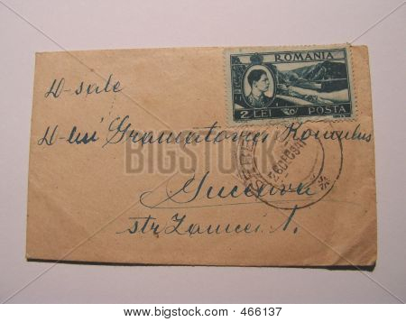 Old Stamp And Corespondence