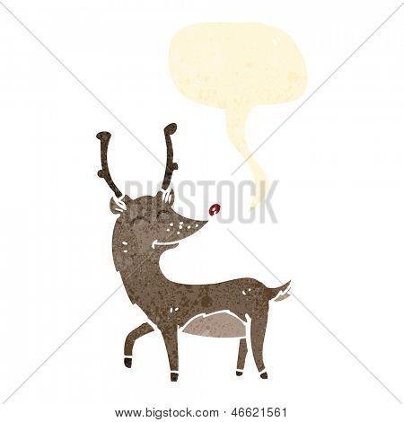 cartoon red nosed reindeer poster
