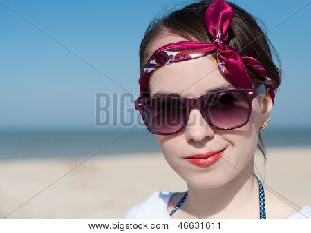The Beautiful Girl At The Sea