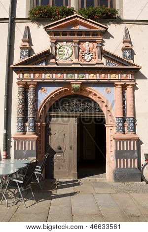 The Doors To Naumburg Town Hall On The Market Square