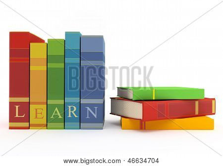 Colorful Books For Learning