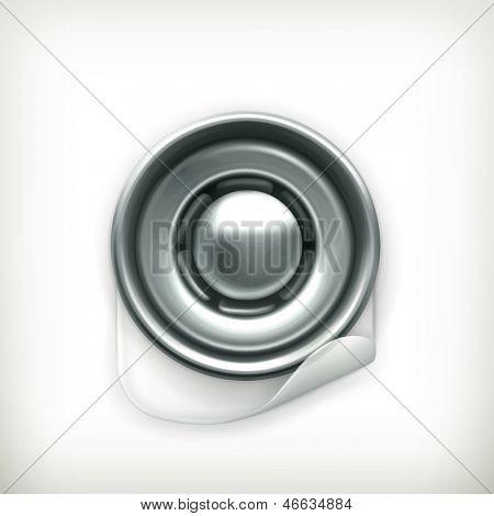 Snap fastener vector icon