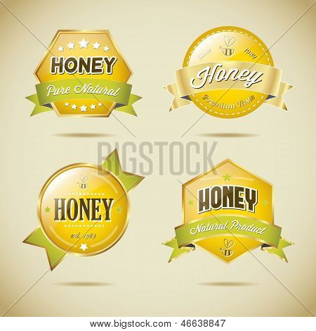Honey Vector Label Collection