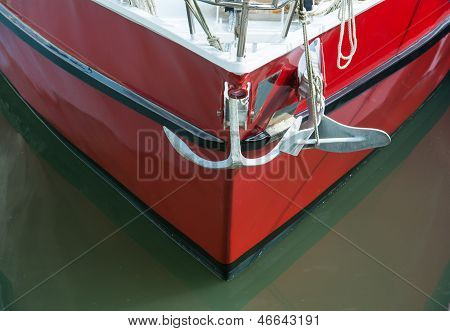 Yacht and anchor