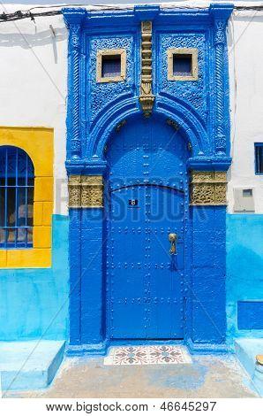Moroccan Blue Door