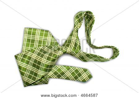 One Fastened Tie Of Green Tones A Kind With Top