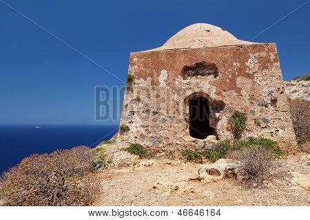 Gramvousa Island Fortress Building, Crete, Greece