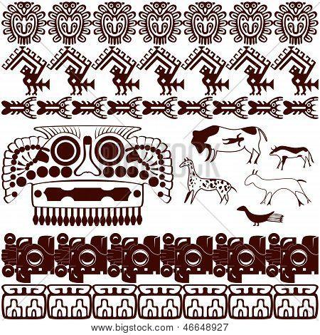 Set Of Ancient American Ornaments