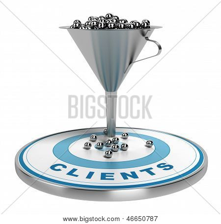 Marketing Vertrieb oder Conversion-Trichter