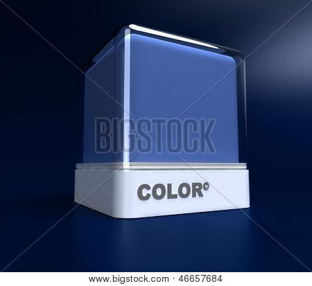 Design block in blue color