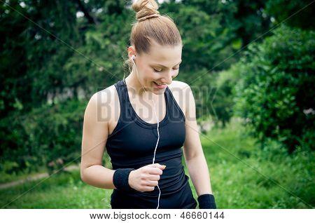 Jogging And Enjoying Music