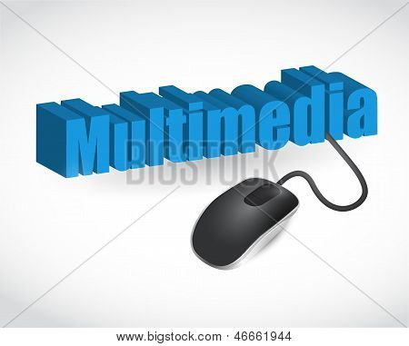 Multimedia Sign And Mouse Illustration Design