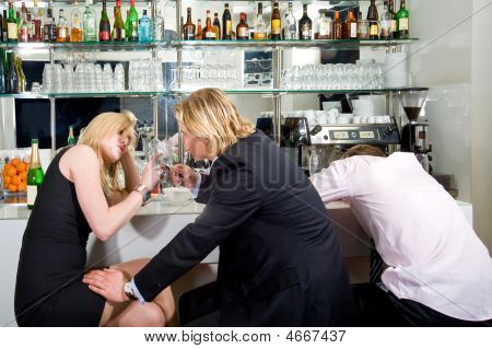 A late night flirt at the bar poster