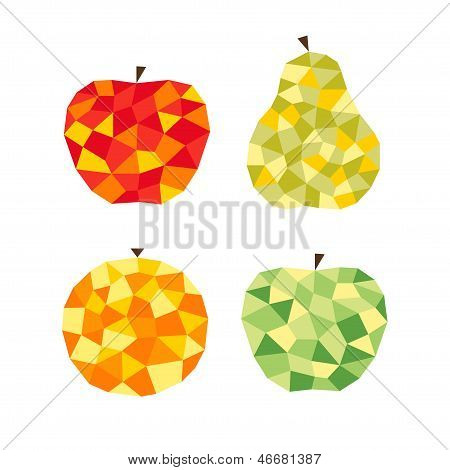 Stylized fruits