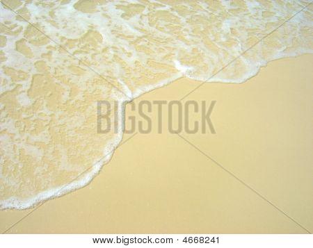 Wave Washing On Whitehaven Beach