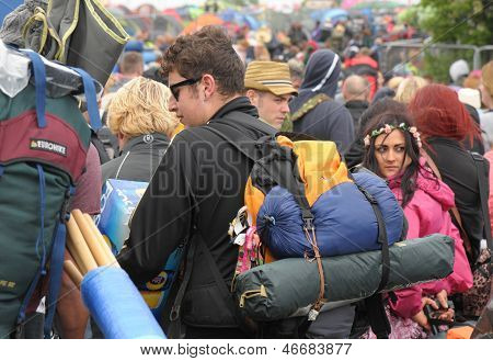 Festival crowds on the IOW