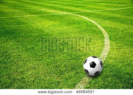 A Ball On Football Field
