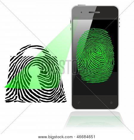 SMART PHONE FINGER PRINT LOCK SCAN