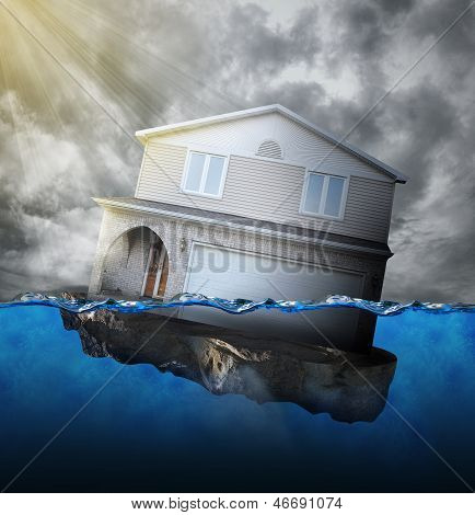 Home Sinking In Water