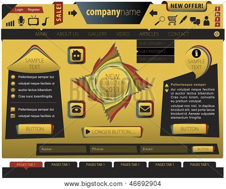Yellow website template