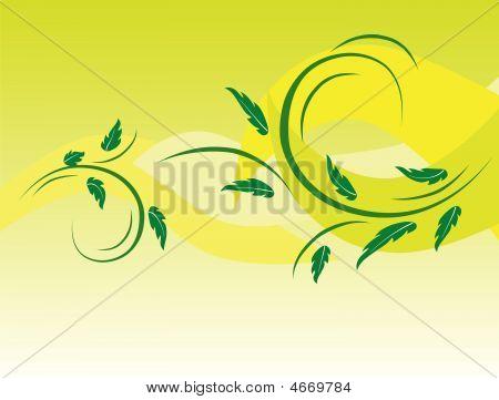 Botanical Background Of Green Leaves
