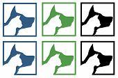 Vet ambulance sign cat and dog vector poster